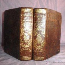 Libros antiguos: AVENTURAS DE GIL BLAS DE SANTILLANA - AÑO 1831 - ROBADA A ESPAÑA - BELLOS GRABADOS.. Lote 44349859