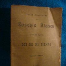 Libros antiguos: EUSEBIO BLASCO: - LOS DE MI TIEMPO. SEMBLANZAS VARIAS - (MADRID, 1905). Lote 44477304