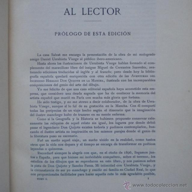 Libros antiguos: PCBROS - DON QUIJOTE DE LA MANCHA - ILUSTR. DANIEL URRABIETA VIERGE - SALVAT EDITORES - 1930 - Foto 7 - 44657248