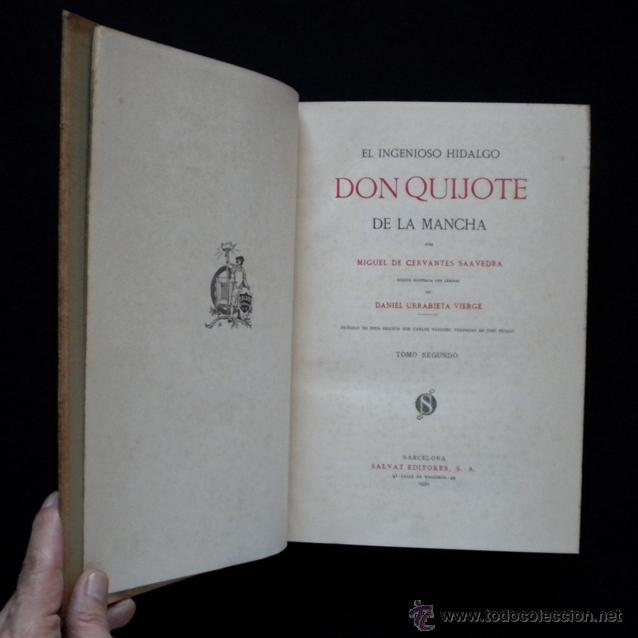 Libros antiguos: PCBROS - DON QUIJOTE DE LA MANCHA - ILUSTR. DANIEL URRABIETA VIERGE - SALVAT EDITORES - 1930 - Foto 21 - 44657248
