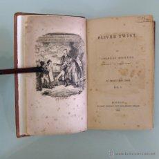 Libros antiguos: CHARLES DICKENS - OLIVER TWIST - LONDON: RICHARD BENTLEY - 1838 - PRIMERA EDICIÓN - GRABADO IGLESIA. Lote 44774662