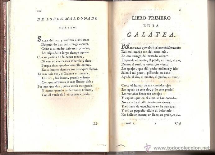 Libros antiguos: CERVANTES – LOS SEIS LIBROS DE GALATEA – Año 1784 - Foto 4 - 44777764