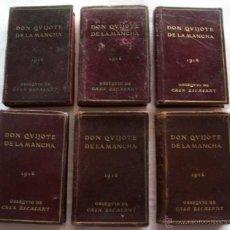Libros antiguos: DON QUIJOTE DE LA MANCHA - EDICIÓN EN MINIATURA - AÑO 1916 - CASA ESCASANY - 6 TOMOS. Lote 44862260