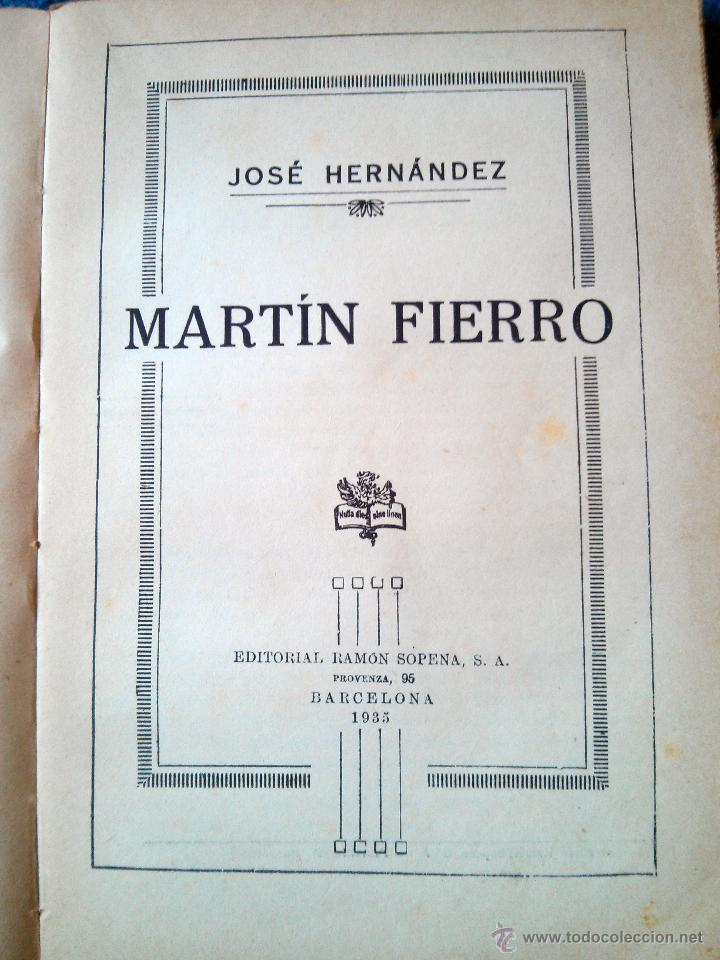 Libros antiguos: MARTIN FIERRO - RAMON SOPENA editor 1935 - Foto 2 - 45067953
