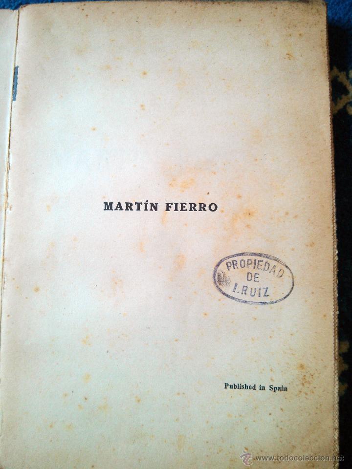 Libros antiguos: MARTIN FIERRO - RAMON SOPENA editor 1935 - Foto 3 - 45067953