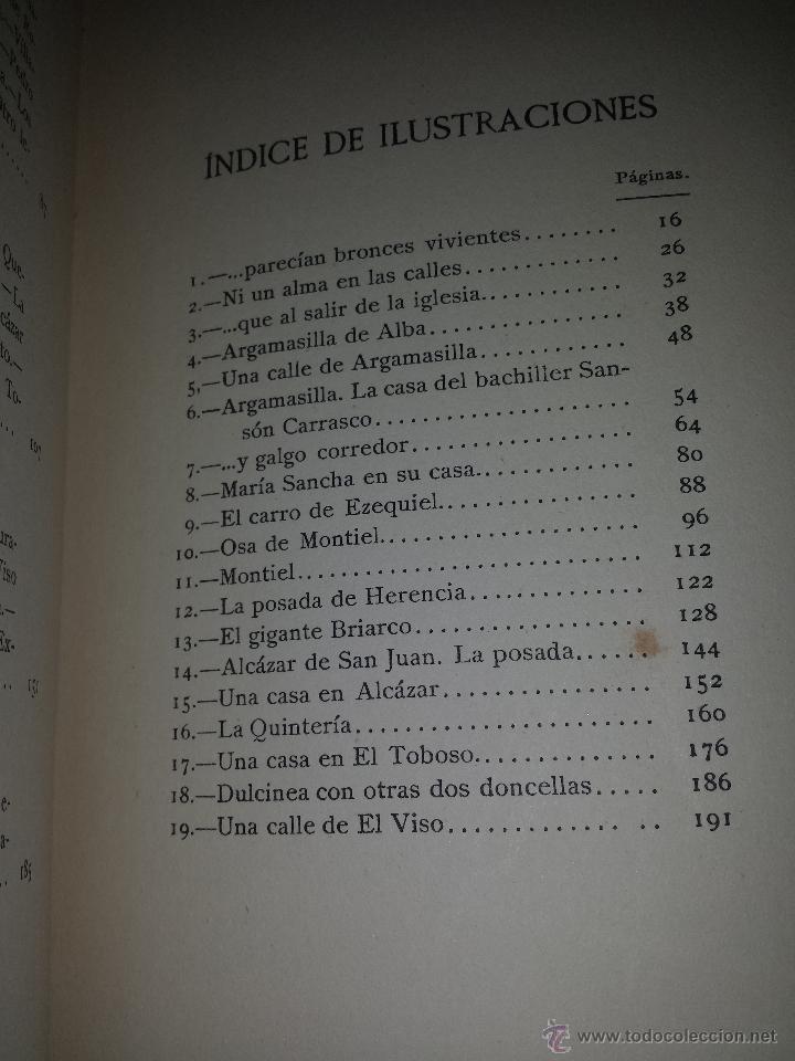 Libros antiguos: EL CAMINO DE DON QUIJOTE POR TIERRAS DE LA MANCHA-AUGUST F. JACCACI-AÑO 1915. - Foto 5 - 46023362