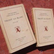 Libros antiguos: LIBROS ANTIGUOS DE TIRANT LO BLANC. Lote 46086445