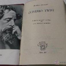 Libros antiguos: CHARLES DICKENS: OLIVERIO TWIST. TRAD. Y PROLOGO JOSE MENDEZ HERRERA. AGUILAR. . Lote 46157052