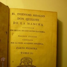 Libros antiguos: EL INGENIOSO HIDALGO DON QUIXOTE DE LA MANCHA.- 3 EDIC. PARTE 1 TOMO 2. Lote 46183794