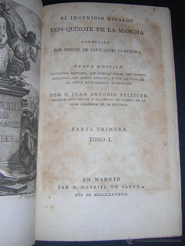 Libros antiguos: 1797 - CERVANTES - DON QUIXOTE DE LA MANCHA - GABRIEL DE SANCHA - Foto 2 - 46648647