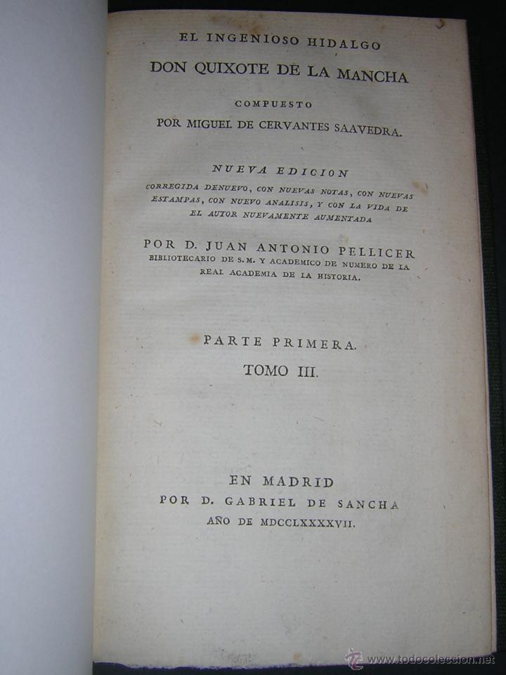 Libros antiguos: 1797 - CERVANTES - DON QUIXOTE DE LA MANCHA - GABRIEL DE SANCHA - Foto 10 - 46648647