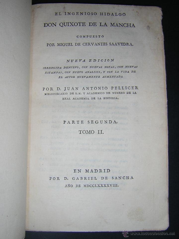 Libros antiguos: 1797 - CERVANTES - DON QUIXOTE DE LA MANCHA - GABRIEL DE SANCHA - Foto 15 - 46648647