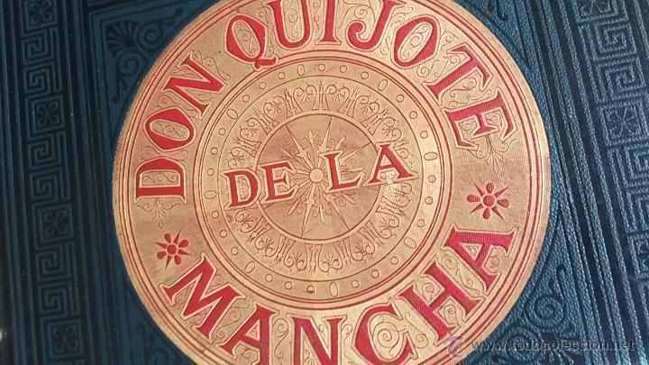 Libros antiguos: CERVANTES, DON QUIJOTE 1ª ED MONTANER Y SIMON 1880 , IL. POR BALACA Y PELLICER.enc.lujo SALVATELLA - Foto 2 - 46869693