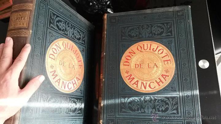 Libros antiguos: CERVANTES, DON QUIJOTE 1ª ED MONTANER Y SIMON 1880 , IL. POR BALACA Y PELLICER.enc.lujo SALVATELLA - Foto 3 - 46869693