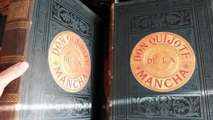 Libros antiguos: CERVANTES, DON QUIJOTE 1ª ED MONTANER Y SIMON 1880 , IL. POR BALACA Y PELLICER.enc.lujo SALVATELLA - Foto 4 - 46869693
