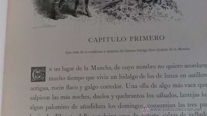 Libros antiguos: CERVANTES, DON QUIJOTE 1ª ED MONTANER Y SIMON 1880 , IL. POR BALACA Y PELLICER.enc.lujo SALVATELLA - Foto 14 - 46869693