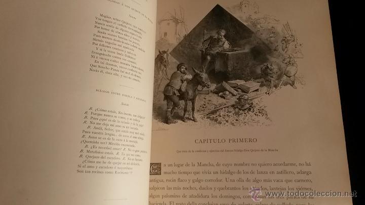 Libros antiguos: CERVANTES, DON QUIJOTE 1ª ED MONTANER Y SIMON 1880 , IL. POR BALACA Y PELLICER.enc.lujo SALVATELLA - Foto 17 - 46869693