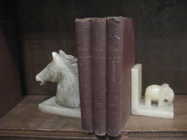 OBRAS COMPLETAS DE JOSE ZORRILLA, DELGADO ED 1905, 3 TOMOS, REF E1 (Libros antiguos (hasta 1936), raros y curiosos - Literatura - Narrativa - Clásicos)