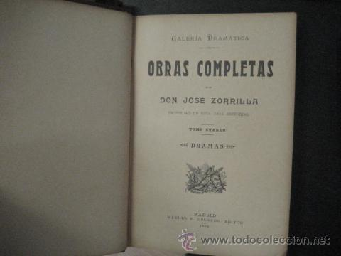 Libros antiguos: obras completas de jose Zorrilla, Delgado ed 1905, 3 tomos, ref E1 - Foto 4 - 47015072