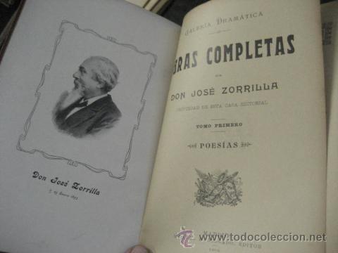 Libros antiguos: obras completas de jose Zorrilla, Delgado ed 1905, 3 tomos, ref E1 - Foto 10 - 47015072