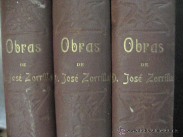 Libros antiguos: obras completas de jose Zorrilla, Delgado ed 1905, 3 tomos, ref E1 - Foto 12 - 47015072