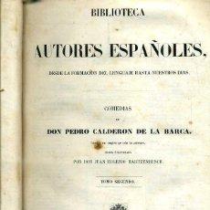 Libros antiguos: COMEDIAS DE CALDERÓAN DE LA BARCA TOMO II (BIBLIOTECA DE AUTORES ESPAÑOLES RIVADENEYRA, 1851). Lote 47125845