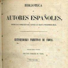 Libros antiguos: HISTORIADORES PRIMITIVOS DE INDIAS TOMO II (BIBLIOTECA DE AUTORES ESPAÑOLES RIVADENEYRA, 1853). Lote 47129638