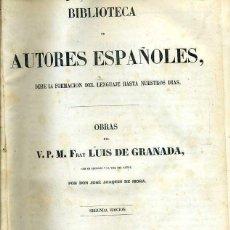 Libros antiguos: OBRAS DE FRAY LUIS DE GRANADA TOMO I (BIBLIOTECA DE AUTORES ESPAÑOLES RIVADENEYRA, 1850). Lote 47129843