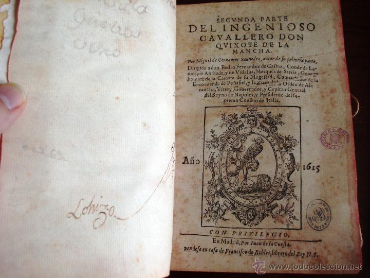 Libros antiguos: Don Quijote de La Mancha, Cervantes, 1605-1615, fiel reproducción (5*). Facsímil. Testimonio - Foto 4 - 35007106