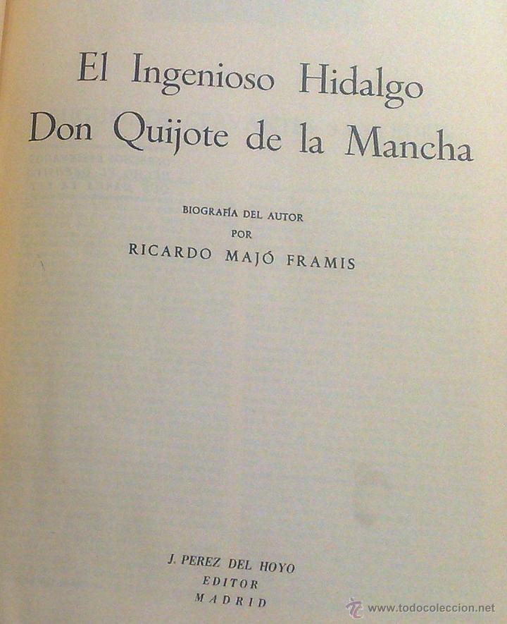Libros antiguos: EL INGENIOSO HIDALGO DON QUIJOTE DE LA MANCHA.- MIGUEL DE CERVANTES SAAVEDRA. - Foto 9 - 48006076