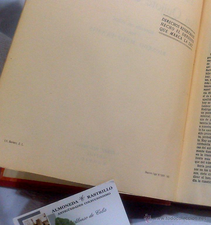 Libros antiguos: EL INGENIOSO HIDALGO DON QUIJOTE DE LA MANCHA.- MIGUEL DE CERVANTES SAAVEDRA. - Foto 12 - 48006076