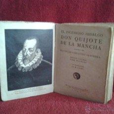 Libros antiguos: DON QUIJOTE DE LA MANCHA EDITORIAL CALLEJA, AÑO 1905 MIGUEL DE CERVANTES SAAVEDRA. Lote 48421021