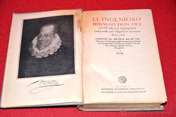 Libros antiguos: EL INGENIOSO HIDALGO DON QUIJOTE DE LA MANCHA MIGUEL DE CERVANTES. SEGUNDA SERIE. SATURNINO CALLEJA - Foto 3 - 48499142