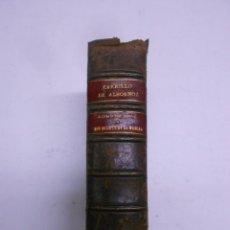 Libros antiguos: CARRILLO DE ALBORNOZ. ROMANCERO DEL QUIJOTE TOMO II .PLENA PIEL AÑO 1890.11X16 CMS 630 PAGINAS. Lote 48615182