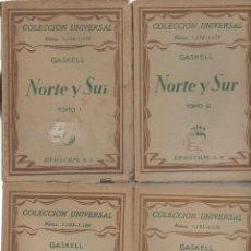 Libros antiguos: NORTE Y SUR. 4 TOMOS. GASKELL. ESPASA-CALPE, 1ª EDICIÓN, 1930. Lote 48979610
