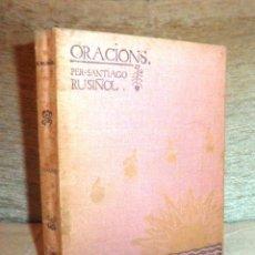 Libros antiguos: ORACIONS PER SANTIAGO RUSIÑOL - ANY 1897 - DIBUIXOS DE MIQUEL UTRILLO.. Lote 49114266