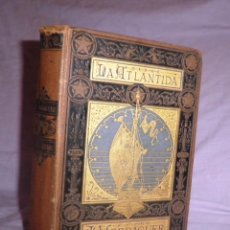 Libros antiguos: LA ATLANTIDA - M.JACINTO VERDAGUER - AÑO 1878 - 1ª ORIGINAL EN PAPEL DE HILO.. Lote 49320299