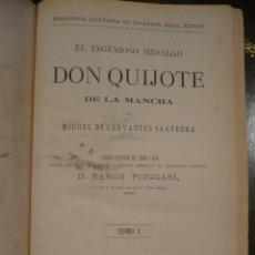 Libros antiguos: DON QUIJOTE DE LA MANCHA, 1881, MONUMENTAL EDICIÓN, GRABADOS A TODA PÁGINA, 2 TOMOS EN UNO. Lote 119442944