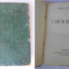 Libros antiguos: PÁGINAS OLVIDADAS DE ESPRONCEDA. MEDINA Y NAVARRO EDITORES-MADRID. TAPA DURA. BIBLIOTECA VARIA. Lote 49535937