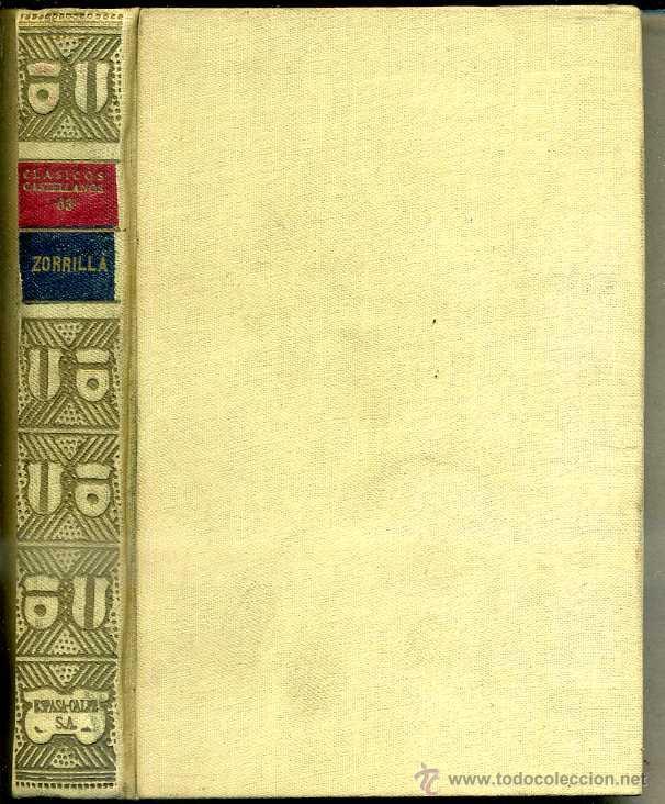 ZORRILLA :POESÍAS (CLÁSICOS CASTELLANOS, 1935) (Libros antiguos (hasta 1936), raros y curiosos - Literatura - Narrativa - Clásicos)