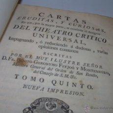 Libros antiguos: THEATRO CRITICO UNIVERSAL: LIBRO TAPAS DE PERGAMINO AÑO 1.770 FEYJOO CARTAS ERUDITAS Y CURIOSAS. Lote 49718437