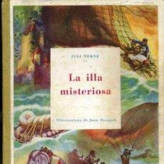Libros antiguos: JULI VERNE : LA ILLA MISTERIOSA (MENTORA, C. 1935) EN CATALÁN. COMO NUEVO. Lote 49746749