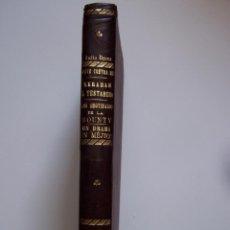 Libros antiguos: TOMO CON CUATRO OBRAS DE JULIO VERNE, EDITORIAL SAENZ DE JUBERA, HERMANOS. LOMO EN PIEL CON TÍTULOS. Lote 50058849