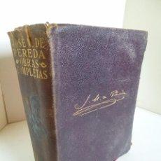 Libros antiguos: JOSE MARÍA PEREDA OBRAS COMPLETAS, AGUILAR EDITOR, MADRID 1934. Lote 50146143