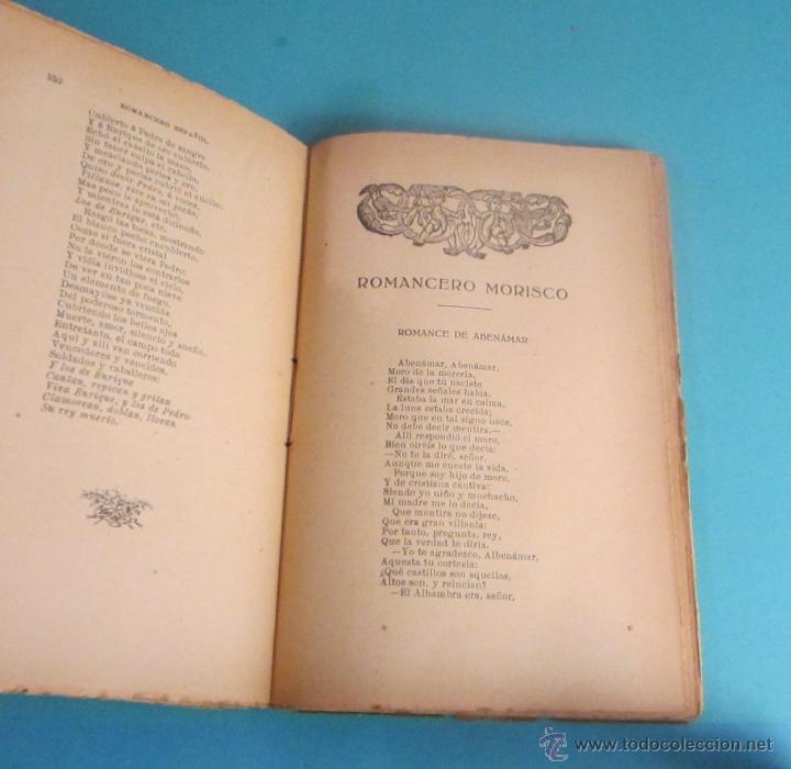 Libros antiguos: ROMANCERO ESPAÑOL Y MORISCO. CUBIERTA DE ARTURO BALLESTER - Foto 4 - 50160021