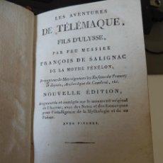 Libros antiguos: LAS AVENTURAS DE TELÉMACO HIJO DE ULISES, DE FÉNÉLON, PARÍS 1822, EN FRANCÉS, CON NUMEROSOS GRABADOS. Lote 50170629