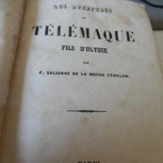 Libros antiguos: LAS AVENTURAS DE TELÉMACO HIJO DE ULISES, DE FÉNÉLON, PARÍS 1852, EN FRANCÉS, CON NUMEROSOS GRABADOS. Lote 50170698
