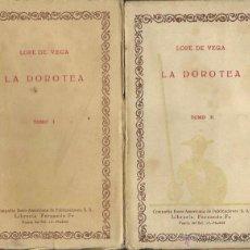 Libros antiguos: LOPE DE VEGA : LA DOROTEA (ACCIÓN EN PROSA) I Y II. (PRÓLOGO DE RAFAEL SECO. C.I.A.P., AÑOS 20). Lote 50341158