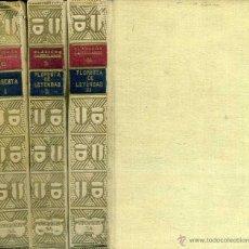Libros antiguos: FLORESTA DE LEYENDAS HEROICAS ESPAÑOLAS (CLÁSICOS CASTELLANOS, 1927) TRES TOMOS. Lote 50370836