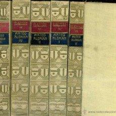 Libros antiguos: MATEO ALEMÁN : GUZMÁN DE ALFARACHE (CLÁSICOS CASTELLANOS, 1928) CINCO TOMOS. Lote 50372625